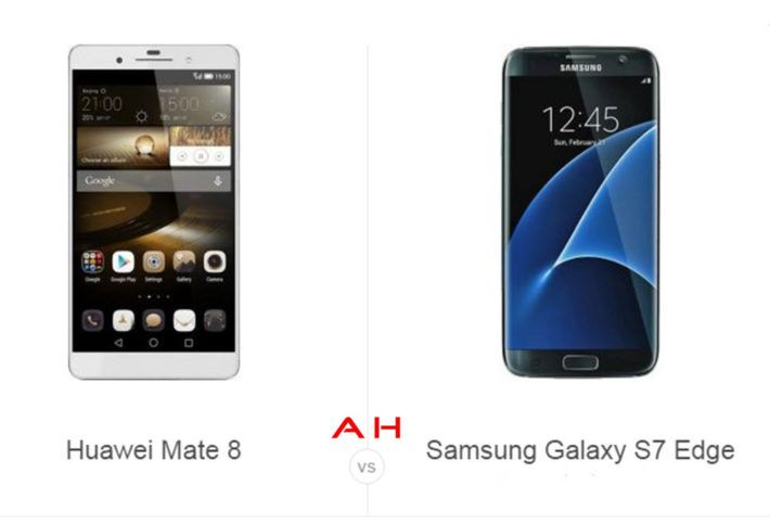 Phone Comparisons: Huawei Mate 8 vs Samsung Galaxy S7 Edge — AndroidHeadlines.com |