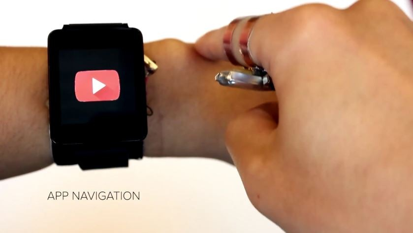 Researchers create wild skin-touch interface for tiny smartwatches